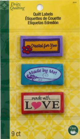 Sew In Embroidered Labels Made With Love