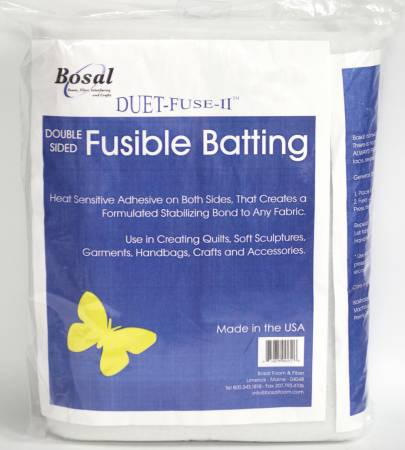 3252B Duet Fuse II Double Sided Fusible Batting 45in
