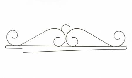 36 Inch Wire Scroll Split Bottom, Charcoal