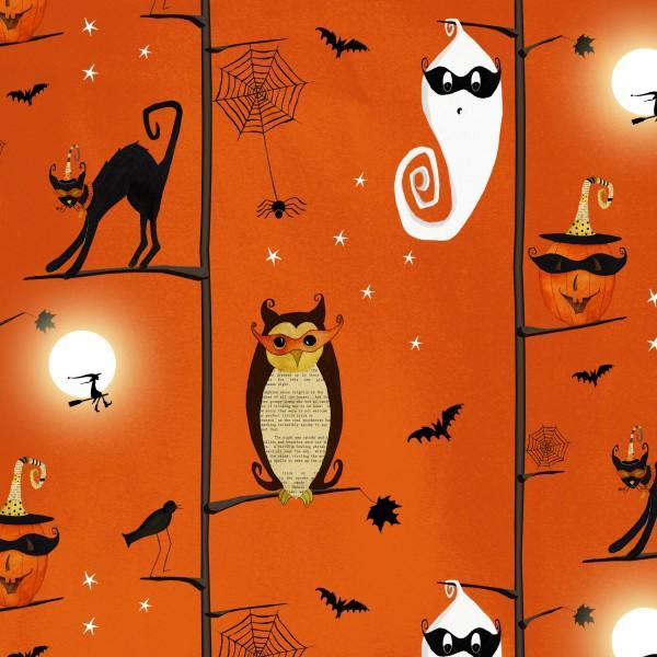Orange Owls/Cats in Trees