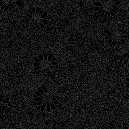 Black Linework Floral