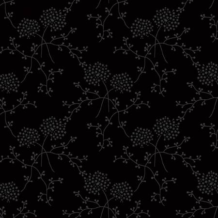 Black Starry Blooms