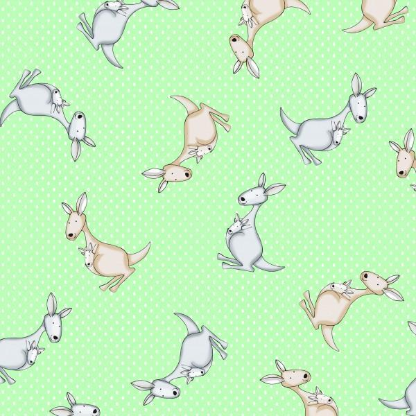 Mint/Green Kangaroo on Dot