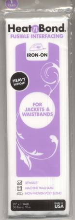 Heat N' Bond Heavy Weight Fusible Interfacing 20in x 1yd