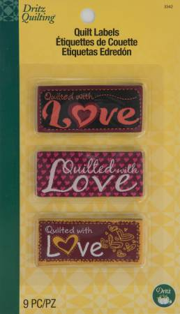 Dritz Quilting - Sew In Embroidered Quilt Labels - With Love