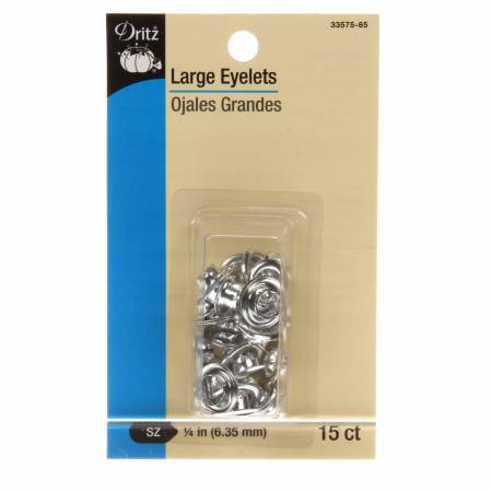 Eyelet Large Refill 1/4in 15ct Nickel