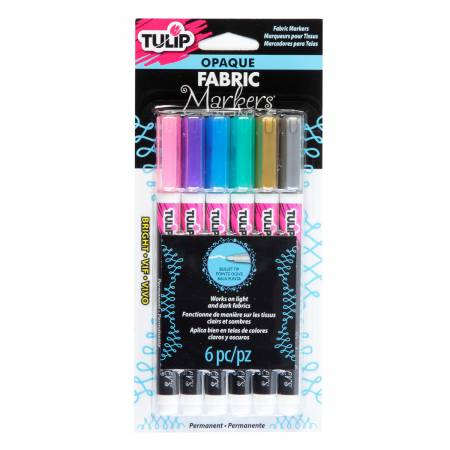 Tulip Opaque Bright 6 Pack Fabric Markers