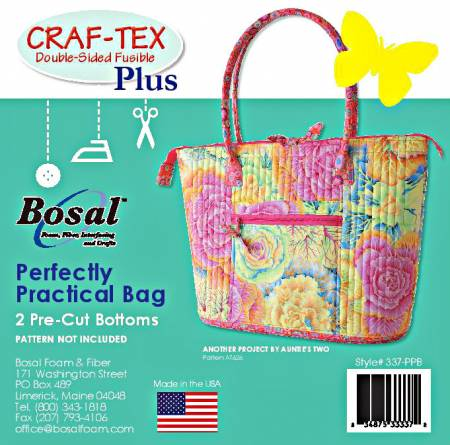 Bosal Craf-Tex Double-Sided Fusible - Perfectly Practical Bag Bottoms