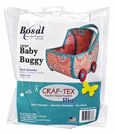 Large Baby Buggy Double Sided Fusible