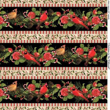 Multi Christmas in The Wildwood Repeating Stripe