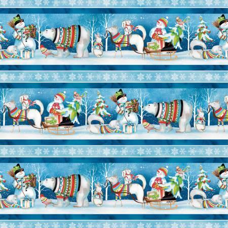 Snowy Friends Stripe