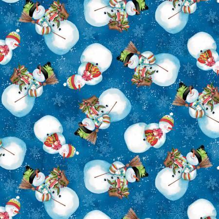 Wilmington Dark Blue Snowmen