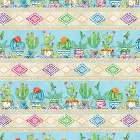 HUMMING ALONG STRIPE 33829427 Wilmington Prints