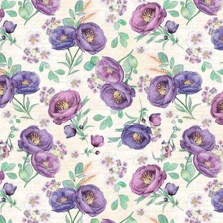 Violette - Cream Tossed Floral