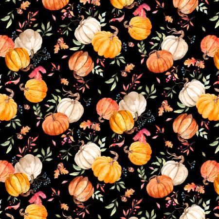 Autumn Day Black Pumpkin Toss
