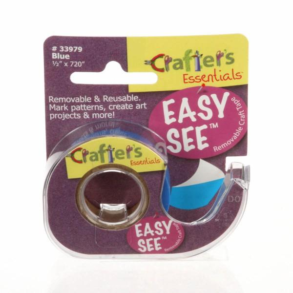 Crafters Easy See Removable Art Tape 1/2in x 720in Roll Blue *