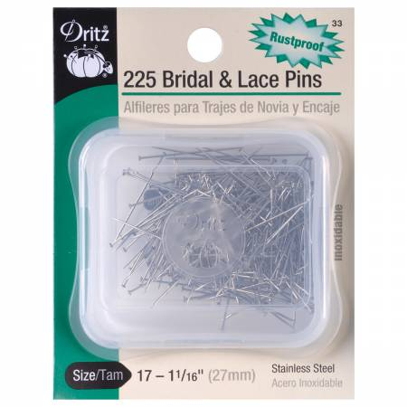 Notions Bridal & Lace Pin Size 17, 1-1/16in 225ct