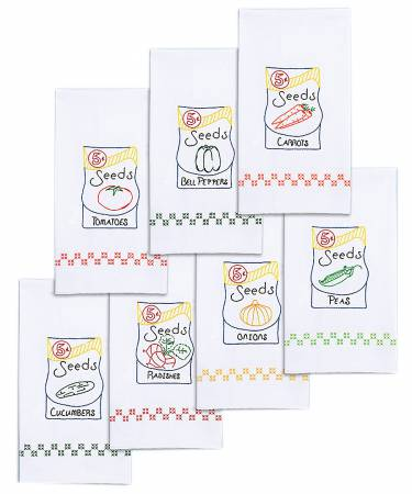 Decorative Hand Towel Sets Seed Packets