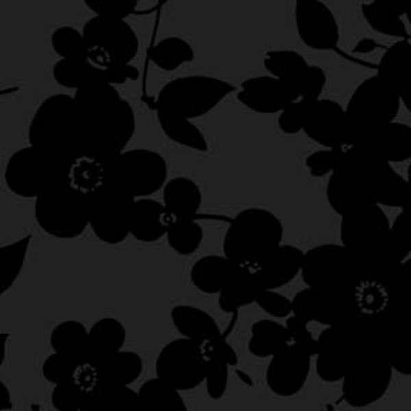 Black Tonal Floral