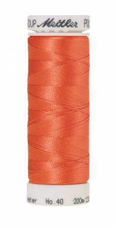 Poly Sheen Polyester Embroidery Thread 40wt 220yd Melon