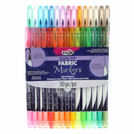 Tulip Dual Tip 30 Pack Fabric Markers