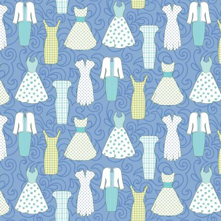 Contempo's Sewing Room Peri Blue Dress