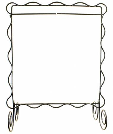 Scalloped Single Stand Charcoal 8in x 8in