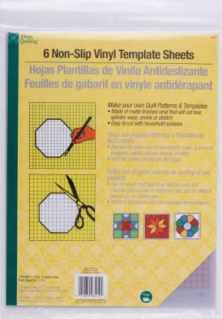 Dritz Non-Slip Vinyl Template Sheets 6pcs