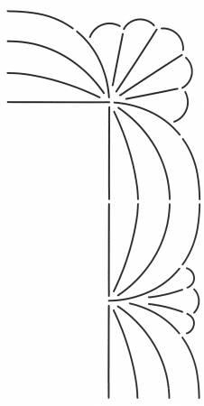 Quilt Stencil Corner Design 3in