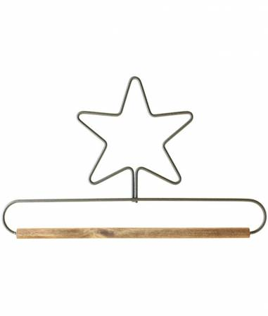 8in Star Dowel Holder Gray