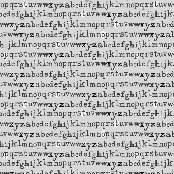 Alphabet Gray - Type