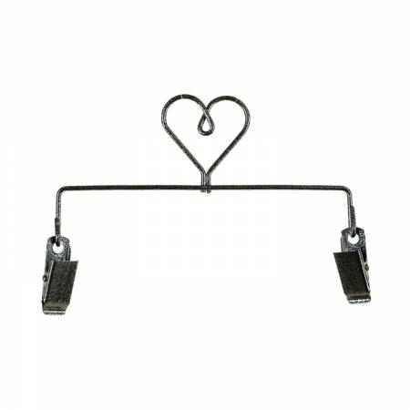 6in Heart Clip Holder Charcoal
