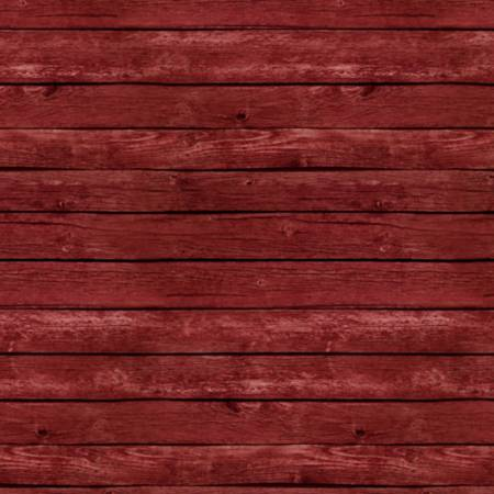 Red Fence Wood Grain