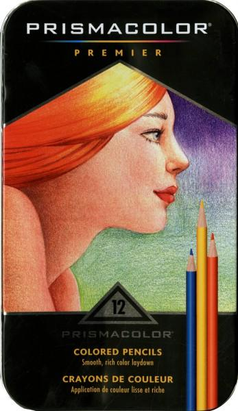 Prismacolor 12ct Tin Colored Pencils