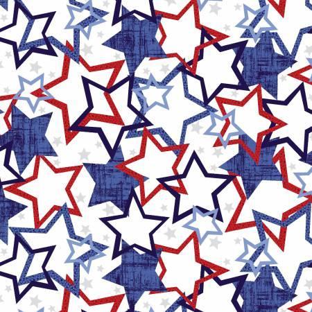 Patriotic Pride White Stars