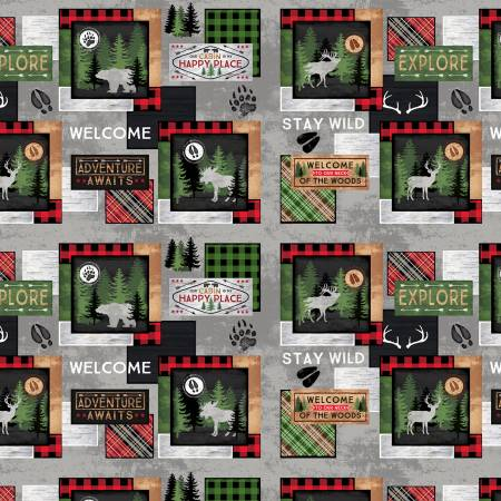 Wilmington - Cabin Welcome - FLANNEL Sampler Patch - 36101-973