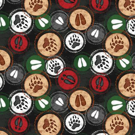 Black Hoof Stamp Flannel Cabin Welcome 36102 993