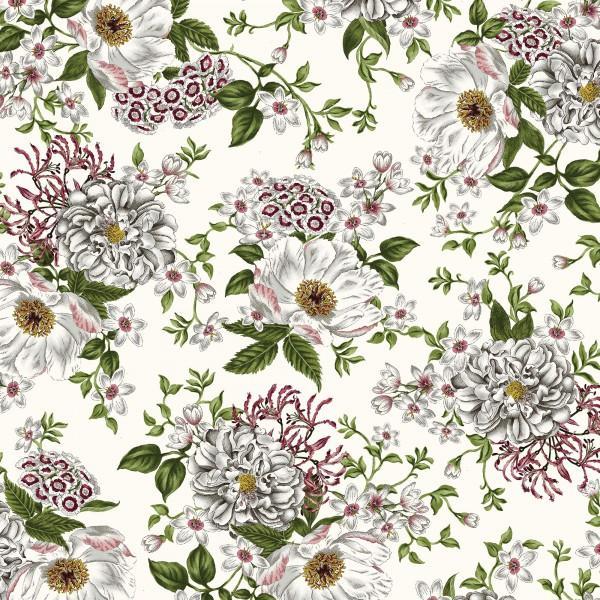 *White/Grey Large Flower