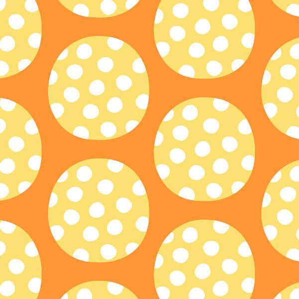 Orange Large Polka Dot
