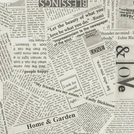 36530C-5 Spackle Newsprint Canvas (21F)