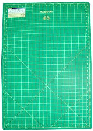 Cutting Mat Omnigrid Green with Yellow Grid 24in x 36in