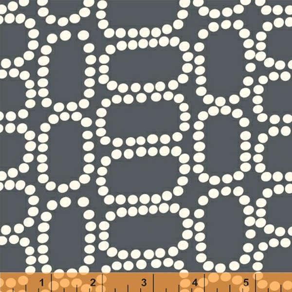 Dotted Ovals Downtown * Grey ~ 37082-2