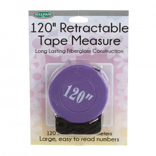 Sassy Retractable Tape Measure Purple