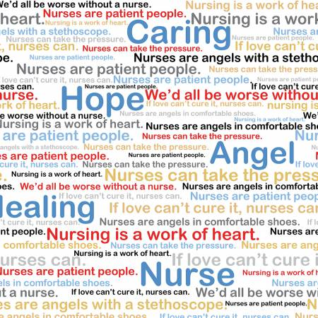 Calling All Nurses Fabric / Healing Words / Windham Fabrics 37301 / Medical Fabric / Nursing Fabric by the yard