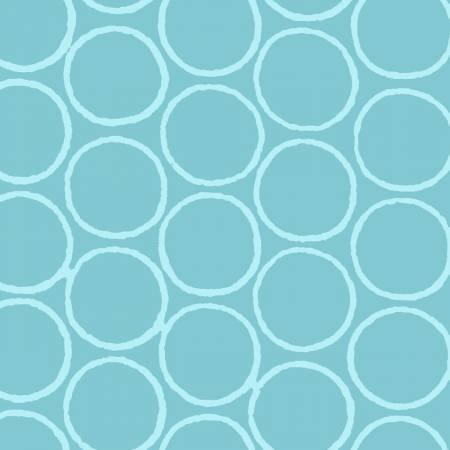 Light Blue Circles Batik