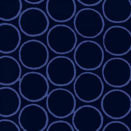 BATIK Dark Blue Circles