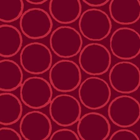 Modern Batiks Burgundy Circles