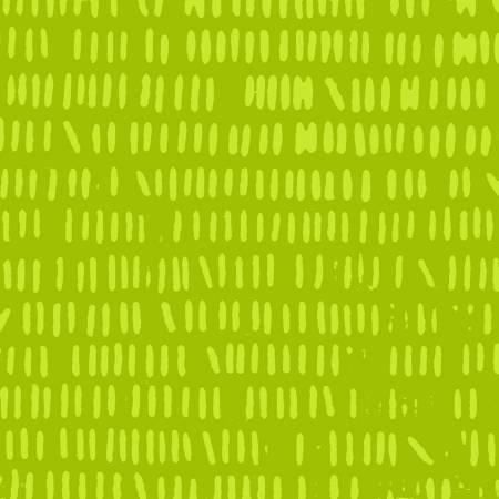 Modern Batiks Dark Lime Pencil Dashes
