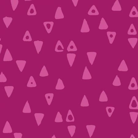 Modern Batiks Magenta Triangles