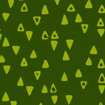 Modern Batiks Leaf Green Triangles
